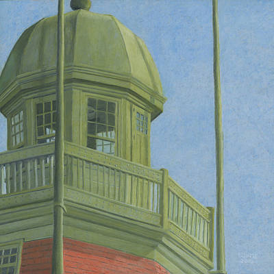 Drawing - Portland Observatory In Portland, Maine by Dominic White