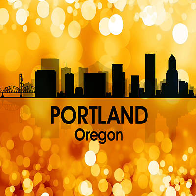 Digital Art - Portland Or 3 Squared by Angelina Tamez