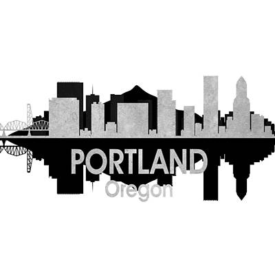 Portland Or 4 Squared Art Print by Angelina Vick