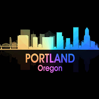 Digital Art - Portland Or 5 Squared by Angelina Tamez