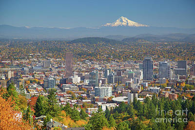 Photograph - Portland, Or In Autumn by Bruce Block