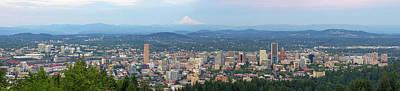 Photograph - Portland Oregon Cityscape Daytime Panorama by David Gn