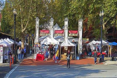 Portland Saturday Market Art Print
