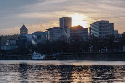 Photograph - Portland Skyline by Steven Clark