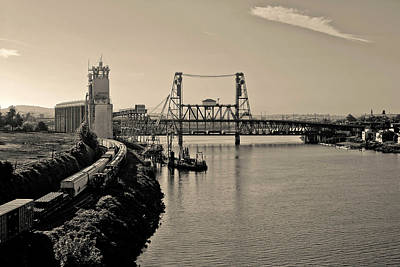 Portland Steel Bridge Art Print