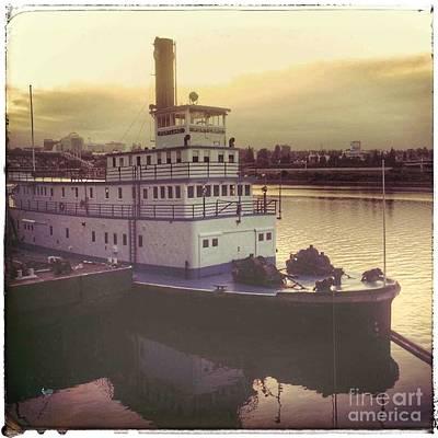 Photograph - Portland Sternwheeler Tugboat by Susan Garren