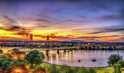 Photograph - Portland Sunrise - Oregon by Spencer McDonald
