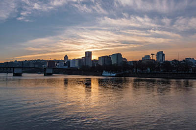 Photograph - Portland Sunset by Steven Clark