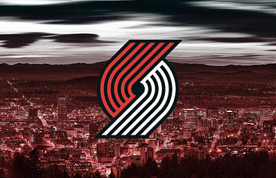 Digital Art - Portland Trail Blazers Nba Basketball Artwork by Nicholas Legault