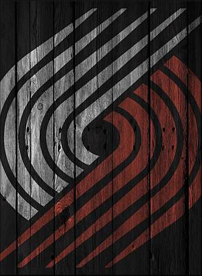 Photograph - Portland Trail Blazers Wood Fence by Joe Hamilton