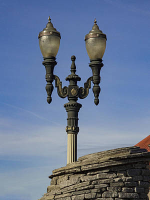 Photograph - Portland Train Station Lamp by Jean Noren