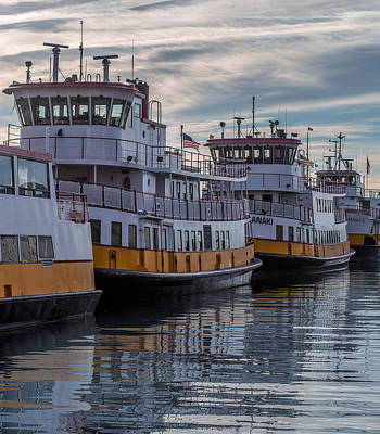 Portlands Casco Bay Lines Art Print by Capt Gerry Hare
