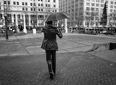 Photograph - Portland's Umbrella Man by Steven Clark