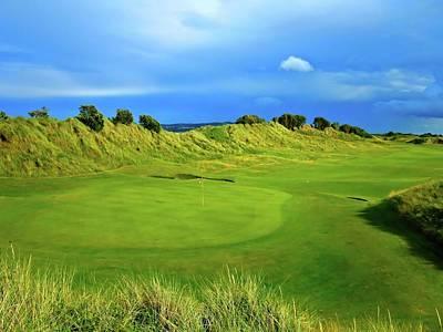 Animal Portraits Royalty Free Images - Portmarnock Golf Links - Hole #18 Royalty-Free Image by Scott Carda