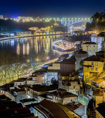 Photograph - Porto @ Night Passeio Das Virtudes by Bruno Rosa
