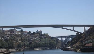 Photograph - Porto Bridge Portugal by John Shiron