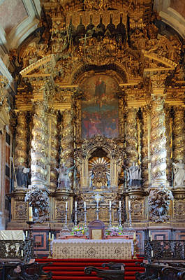 Photograph - Porto Cathedral Altar by Sally Weigand