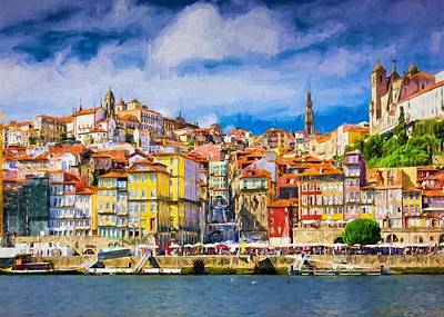 Townscape Digital Art - Porto by Charmaine Zoe