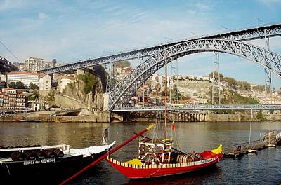 Painting - Porto Dom Luis Bridge 02 by Dora Hathazi Mendes