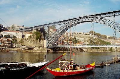 Painting - Porto Dom Luis Bridge 02 by Dora Hathazi Mendes