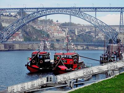 Photograph - Porto Dom Luis Bridge 03 by Dora Hathazi Mendes
