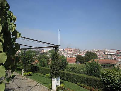 Photograph - Porto Hilltop Garden View Portugal by John Shiron