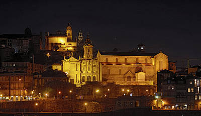 Photograph - Porto Night Scene by Sally Weigand