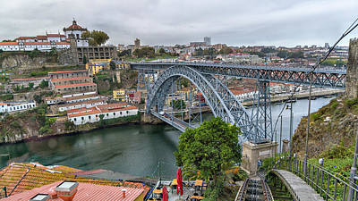 Photograph - Porto Portugal Luis I Bridge by Alan Toepfer