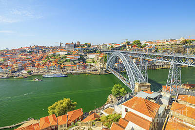 Photograph - Porto Portugal Skyline by Benny Marty