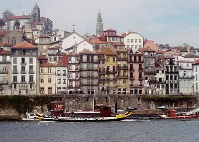 Photograph - Porto River Douro 02 by Dora Hathazi Mendes