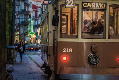Porto Tram Art Print by Chris Fletcher