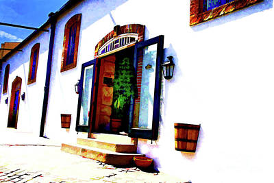 Photograph - Porto Winery Door by Rick Bragan