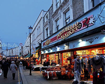 London Landmark Photograph - Portobello Road London Street Market by Gill Billington