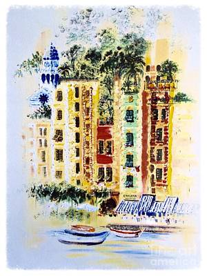 Portofino  Art Print by Barbara Chase
