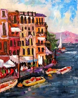 Portofino Italy Painting - Portofino by Barbara O'Toole