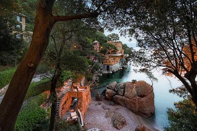Photograph - Portofino Bay Beach - Spieggetta Nella Baia Di Portofino by Enrico Pelos