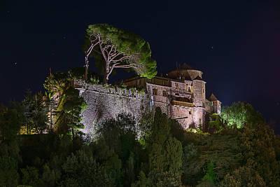 Photograph - Portofino Bay By Night V - Notte Al Castello by Enrico Pelos