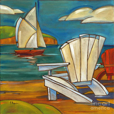 Portofino Beach Painting - Portofino Beach Chair by Paul Brent