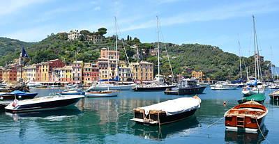 Photograph - Portofino Boats by Corinne Rhode