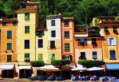 Portofino Cafe Photograph - Portofino Bright by Rochelle Berman