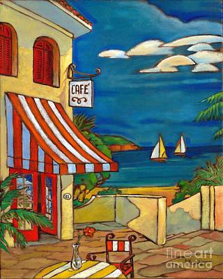 Cafe Terrace Painting - Portofino Cafe by Paul Brent