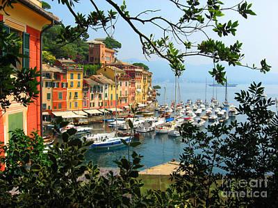 Portofino Harbour Photograph - Portofino by Christine Huwer