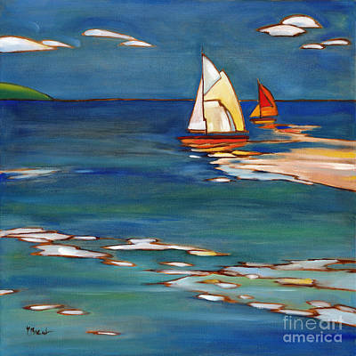 Portofino Distant Sails Art Print by Paul Brent