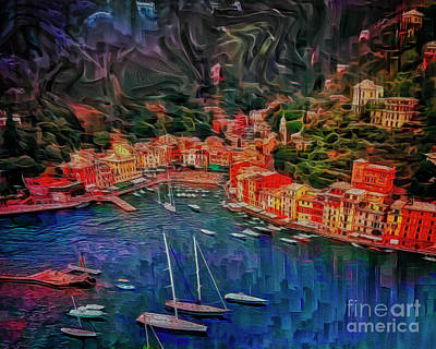 Digital Art - Portofino by Edmund Nagele