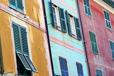 Photograph - Portofino Facade by Al Hurley