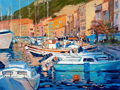 Painting - Portofino Harbor by Judith Barath