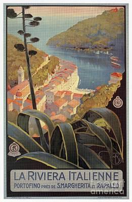 Portofino Italy Drawing - Portofino Italian Riviera by Aapshop