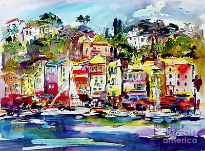 Painting - Portofino Italian Riviera by Ginette Callaway