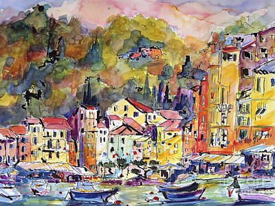 Painting - Portofino Italy by Ginette Callaway