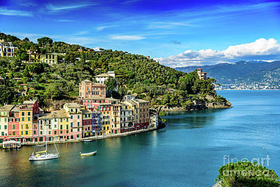 Portofino, Italy Art Print by Global Light Photography - Nicole Leffer